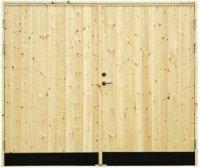 Garageport 18° Rak Panel utan glas