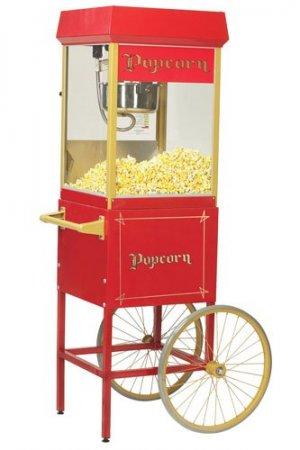 Hyra popcornmaskin med vagn