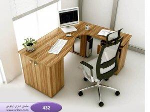 میز کار اداری - مدل 03 ام دی اف