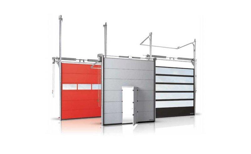 Industriportar Segmentportar för industrier, rullportar, upphängda skjutportar, vikportar, och lastningssystem