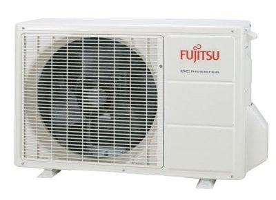 Utedelen på Fujitsu luftluftvärmepump