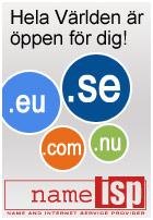 Hela världen är öppen för dig. Registrera ditt domännamn hos NameISP!