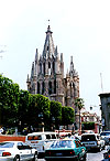 San Miguel de Allende's Jardin (town square) today, with the Parroquia in the background.