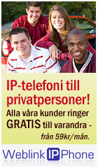 IP-telefoni för privatpersoner. Ring gratis till varandra!