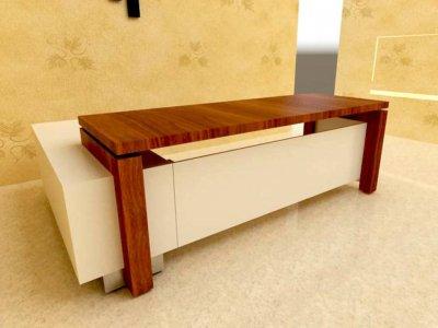 مبلمان کار اداری با میز ام دی اف و سری کلاسیک- مدل 302 - 2016