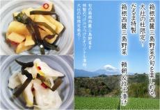 箱根西麓三島野菜の旬を楽しめる。大社の杜限定!だるま特製箱根西麓三島野菜 頼朝&政子漬け