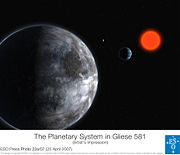 Artist's impression of Gliese 581 c
