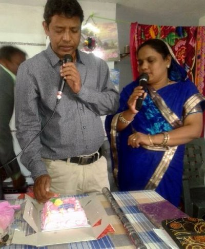 "The Kingdom Kids Club team leaders in Labanyagada in India Pastor Diptiman Lima  with his wife Mrs Sreedevee ""Bujji"" Kakita"