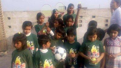 The Kingdom Kids Club fotball and badminton section