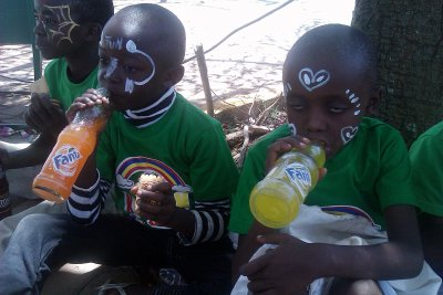 Boys members of Kingdom Kids Club  on picnic to the Uhuru Park in Nairobi