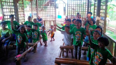 Kingdom Kids Club in Tangub Mindanao Philippines singing Christian songs together