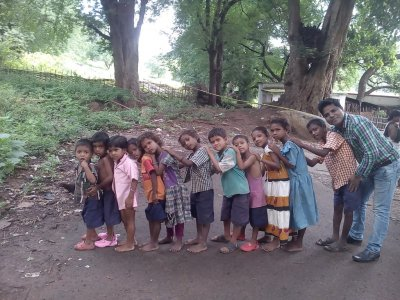 Kingdom Kids Club in the mountain village Punjapai located in Odisha state in India