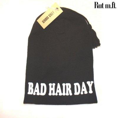 Svart bad hair day mössa