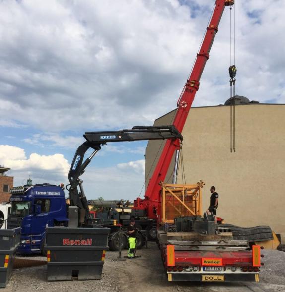 Vi erbjuder hjälp med kranbil i Stockholm av alla storlekar.