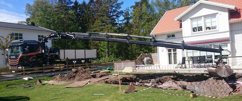 Vi kan hjälpa ert byggprojekt med kranbil i Göteborg.