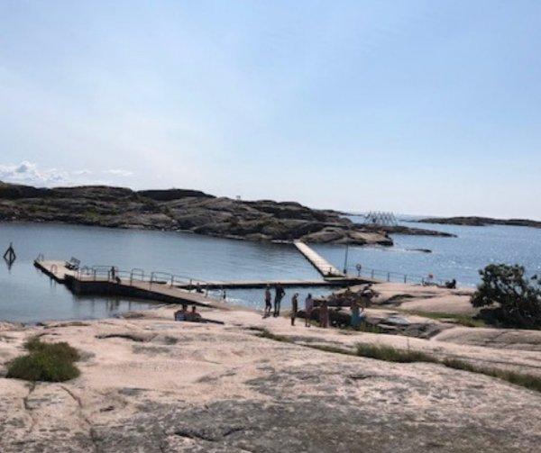 Fisketången badplats i Kungshamn.