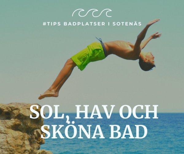Tips badplatser i Sotenäs.