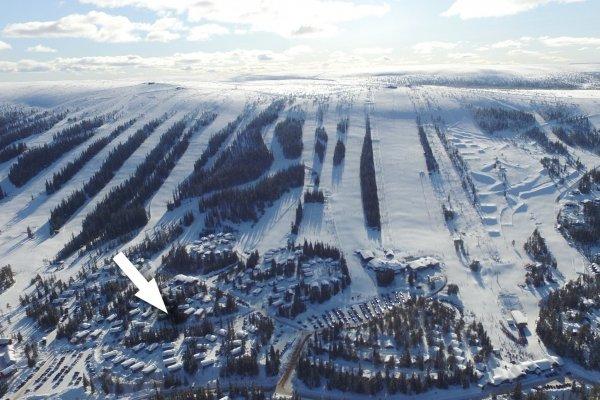Blå byn är populärt liftnära boende i Lindvallen.