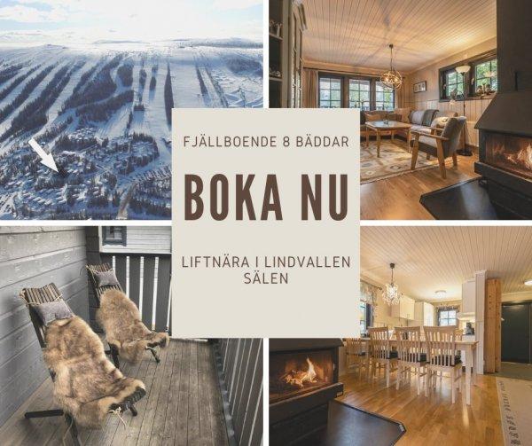 Liftnära boende för 8 personer i Lindvallen.
