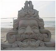Zandsculptuur Scheveningen