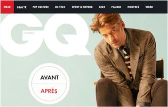 Avant / Après : GQmagazine.fr