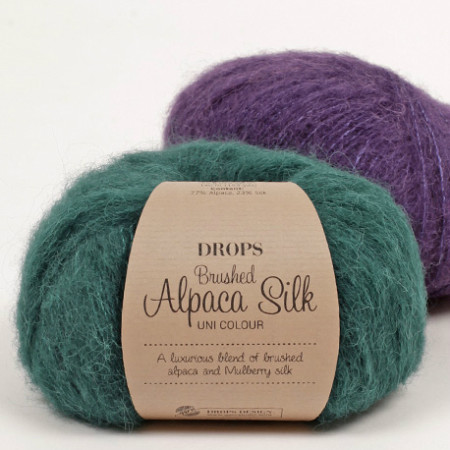 Brushed alpaca silk 1x1