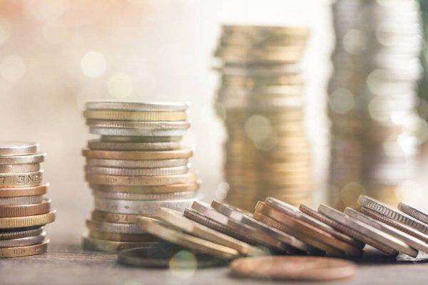 Staplar med mynt
