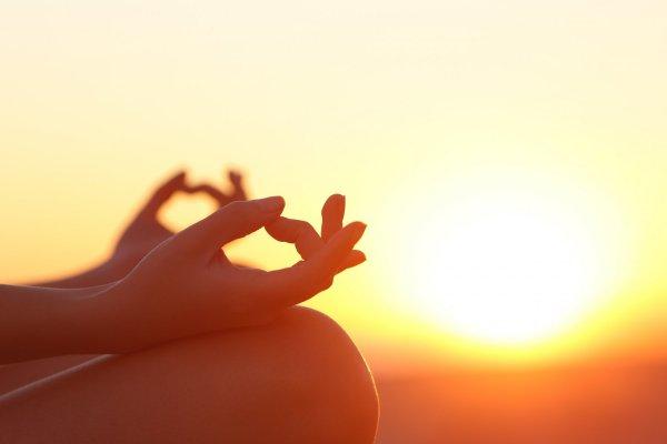 yoga ute i naturen