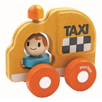TAXIBIL MED SNURRANDE LAMPA, PLANTOYS TAXI