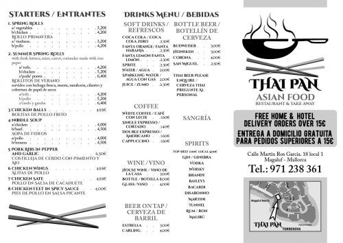 Thai Pan - Asian Food (meny 2)