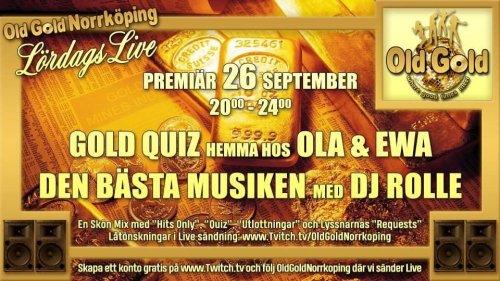 OLD GOLD NORRKÖPING - LÖRDAGS LIVE