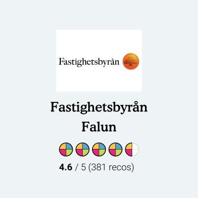 Betyg till oss som Mäklare i Falun från reko.se