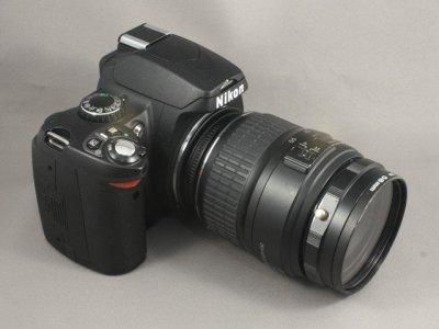 Nikon D40 med reverseringsring