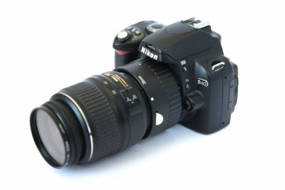 Nikon macrosetup med kopplad mellanring