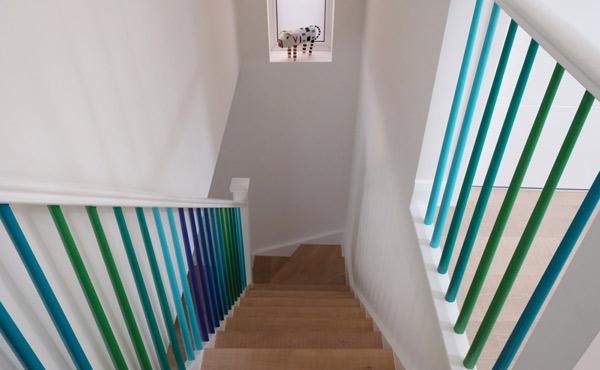 färgglad trappa