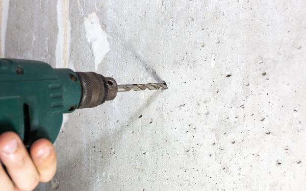 borra i betong