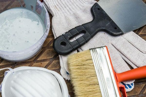 verktyg färg pensel