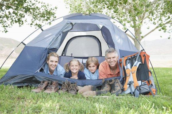 Camping är kul för hela familjen