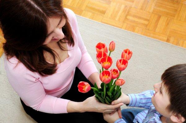 blommor på mors dag