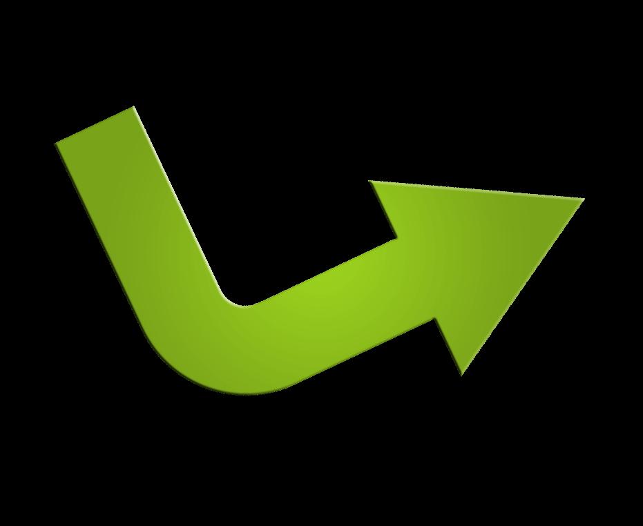 En pil som pekar till första steget av lyckad sökmotoroptimering