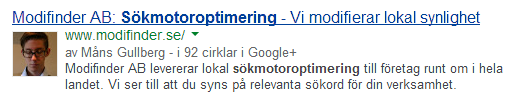 Modifinder på Google