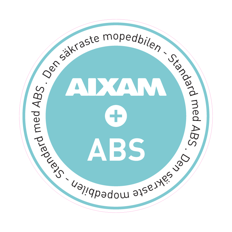 Standard med ABS. Den säkraste mopedbilen i Stockholm.