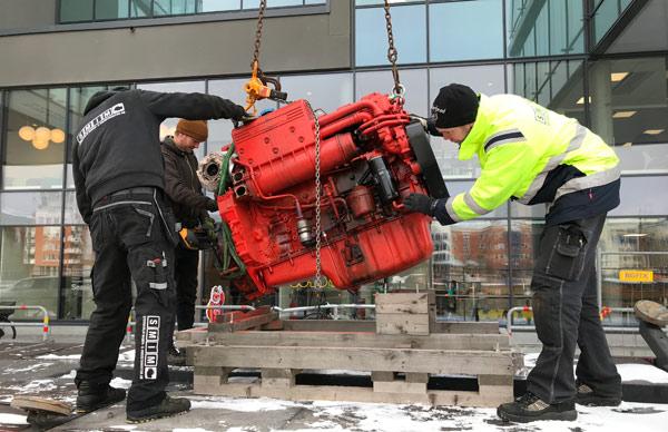 demontering av dieselmotor
