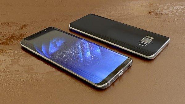 två smartphones