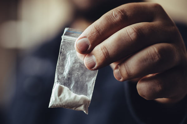 narkotika som hittats vid husrannsakan