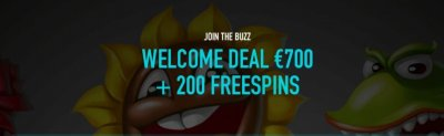 BuzzSlots welcome Bonus.