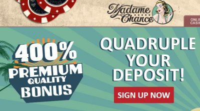 Madame Chance welcome bonus.