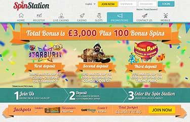 SpinStation welcome bonus.