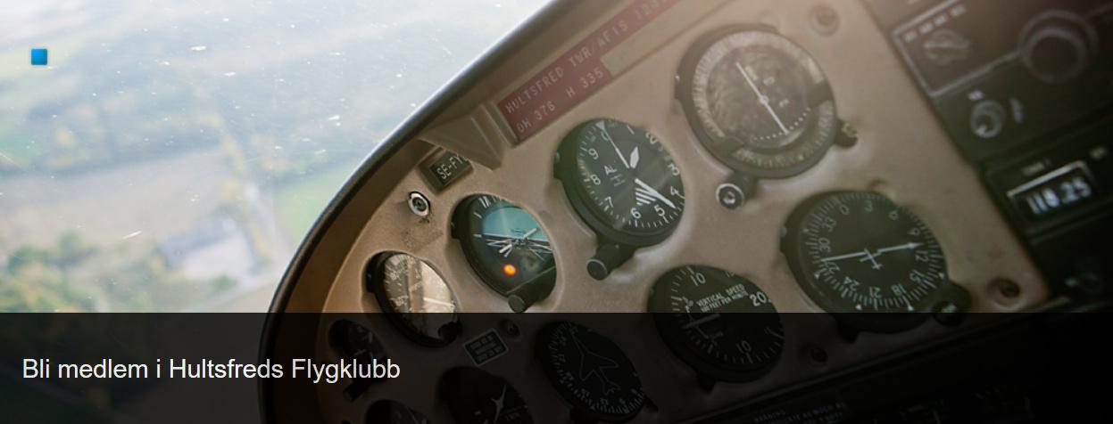 Bli medlem i Hultsfreds Flygklubb