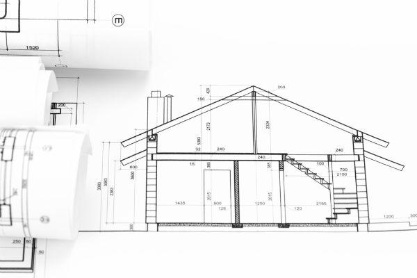 blåkopia arkitektritning